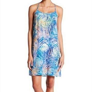 Tory Richard Strap Silk Blue Misty Palm Dress 2